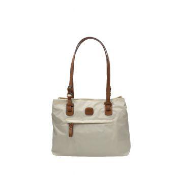 Bric's X Bag Borsa Shopping Bianca Cuoio