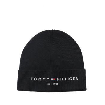 Tommy-Hilfiger-Cappellino-Risvolta-Logata-Nero-AM0AM08323-BDS
