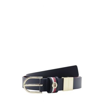 Tommy-Hilfiger-Cintura-in-Pelle-Liscia-passante-Logato-AW0AW10582-0GY