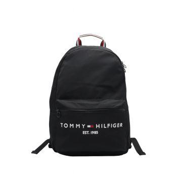 Tommy-Hilfiger-Zaino-Nero-Tasca-Zipp-Frontale-AM0AM07266BDS